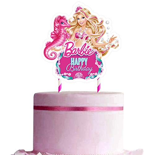 Toppers for Barbie Cake Topper, Happy Birthday Cake Toppers, Cake Decorations for Bday Theme Party