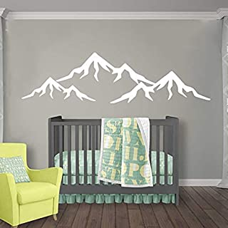 Mountains Nursery Wall Decal/Mountain Wall Decal Nursery/Baby Nursery Decal Vinyl Sticker/Wall Decal Nursery Boy Room Wall Decor Baby Boy Room Wall Decals vs83