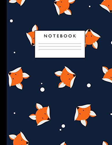 Notebook: Cute Lined Journal Ruled Composition Note Book to Draw and Write In - School Supplies for Elementary, Highschool and College (8.5 x 11 Size 100 Writing Pages) Cover Design 305