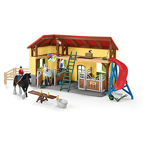 Schleich 42485 Farm World play set - establo de caballos, juguetes a partir de 3 años