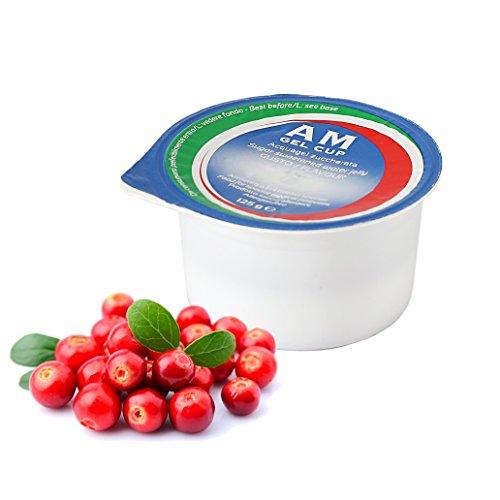 AM Gel Cup Acquagel Frutti Rossi con Zucchero - Acqua Gelificata pronta all'uso 72 vasetti da 125g