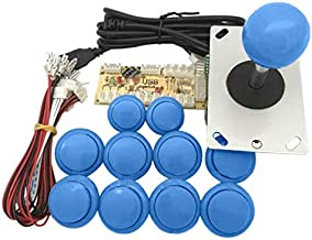 Sanwa - Kit fai da te con pulsante a scatto per PC, PS3, Sanwa, kit fai da te, con joystick arcade e joystick arcade con r...
