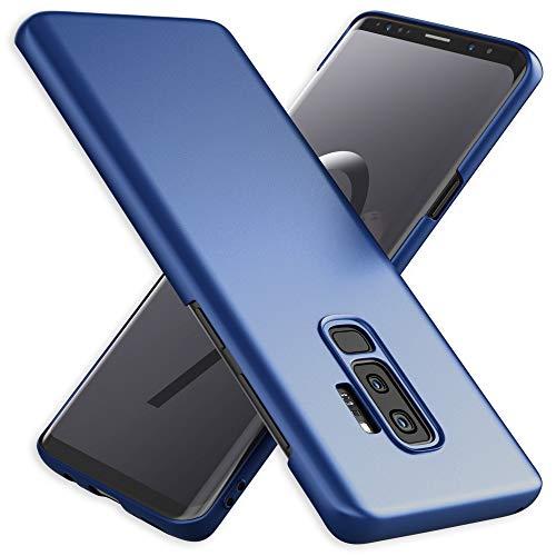 NALIA Custodia compatibile con Samsung Galaxy S9 Plus, Cover Protezione Ultra-Slim Hard-Case Rigida Protettiva Telefono Cellulare, Smartphone Bumper Sottile en Effetto Metallo, Colore:Blu