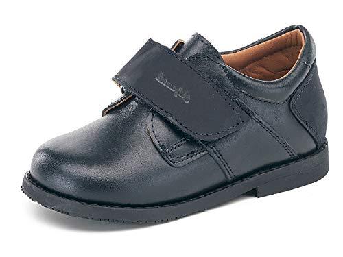 Zapatos HORMA RECTA niños CALZAMEDI, PIES PLANOS,piel azul, ancho 6,capacidad plantillas. Mod.4045 (Azul, numeric_35)