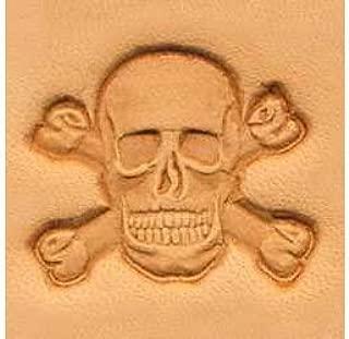 skull leather stamp