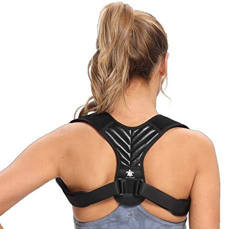 turtleandmore Haltungskorrektur für Männer und Frauen, Geradehalter Rücken, Verstellbar, Körperhaltung verbessern, Verbessert die Haltungslinderung, Rückenstabilisator, Haltungstrainer (M)