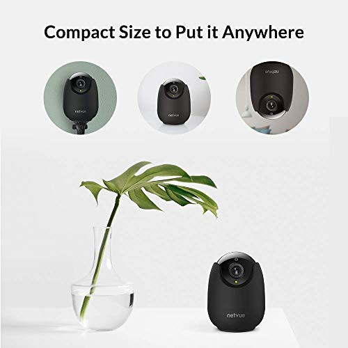 NETVUE Mini Security Camera Indoor Wi-Fi Pet Camera, Baby Monitor Camera, 1080P HD Dog Camera with Motion Detection, Two…