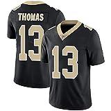 WASDQE Brees9# Thomas13# Kamara41# New Orleans Saints vêtements de Rugby Chemise brodée Maillot de Football américain-White13-XL