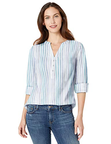 Fashion Shopping Amazon Essentials Women's Relaxed-Fit Lightweight 3/4 Sleeve Cotton Popover