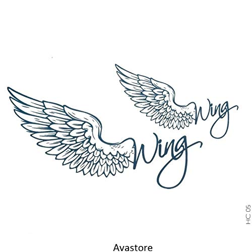 Tatouage Temporaire Femme Ailes Wing Ange Bleu Tatouage Éphémère pour Femme Homme Ailes Wing Ange Bleu - AVASTORE