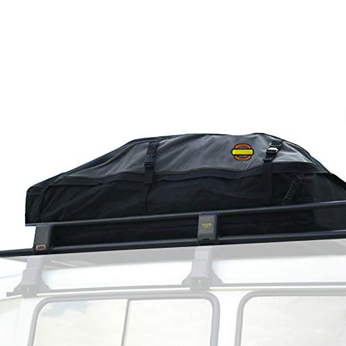 LZQpearl Auto Gepäckbox, 378L Dachboxen wasserdichte Top-Box, 600D Oxford-Stoff und PVC-Beschichtung, Gepäcktasche Reiseaufbewahrungsbox Für PKW-SUV (L)