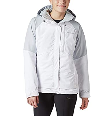Columbia Women's Wildside Jacket, Waterproof & Breathable, Small, White, Cirrus Grey Heather