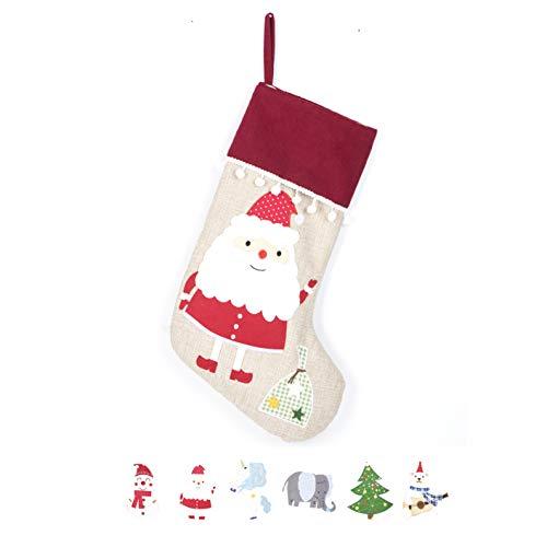 Beyond Your Thoughts Nikolausstrumpf Weihnachtsstrumpf Deko Kamin Christmas Stocking Nikolausstiefel zum befüllen und aufhängen groß Ideale Weihnachtsdekoration-Weihnachtsmann