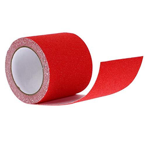 iplusmile Sicherheitsband Hochzugband Anti-Rutsch-Schleifband Rotes Warnband 5 Mx 10 cm