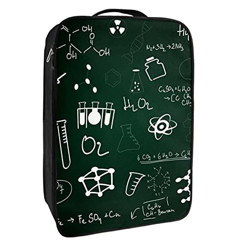 Caja de almacenamiento para zapatos de viaje y uso diario para lecciones escolares, pizarra, organizador portátil, impermeable, hasta 12 yardas con doble cremallera, 4 bolsillos
