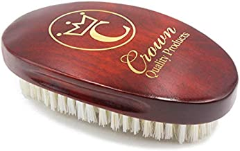"""Crown Quality Products - Cherrywood Medium/Firm Contour Wave Brush - """"THE ORIGINAL"""" Curved Wave Brush - 360 Waves in Days"""