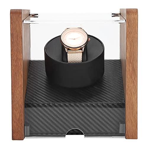 Hztyyier Enrollador de Reloj Individual Enrollador de Reloj automático Individual Relojes automáticos Caja de Reloj Caja de exhibición de Almacenamiento de enrollador automático(EU 110-240V)