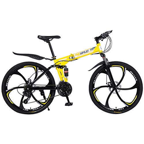 Learn More About wrasf 26in Folding Mountain Bike, Full Suspension Road Bikes,21 Speed Bicycle Full ...