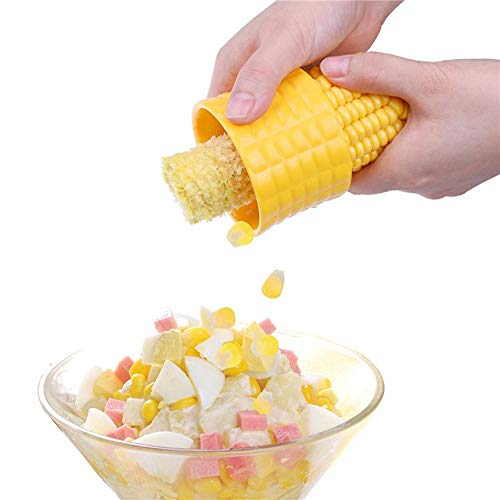 SANXDI Corn Peeler Creative Household Gadgets Corn Stainless Steel Stripper Cob Cutter Non Slip Kitchen Cob Remover Cooking Tool