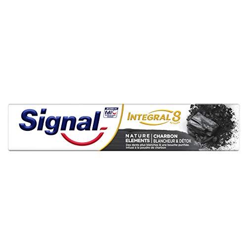 Signal Nature Elements Zahnpasta für weiße Kohle und Detox, Tube mit 75 ml