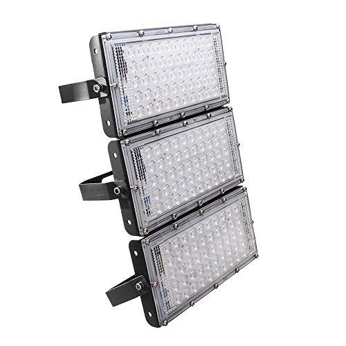 Lixada All' Aperto Luce di Inondazione Cantiere ha Condotto la Luce 150W 150 LED IP65 Proiettore da Esterno per Esterni Impermeabile per Parco Giochi da Giardino