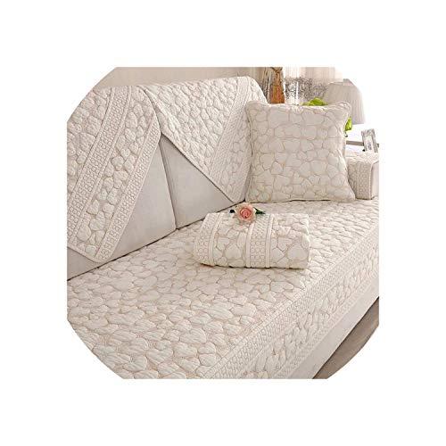 Dubbele Zijdelings Katoen Sofa Covers Kussen Vier Seizoenen Slaapbank Handdoek Moderne Eenvoudige Woonkamer Hoekbank Cover Armsteun Handdoek,C,70x150cm 1 stks
