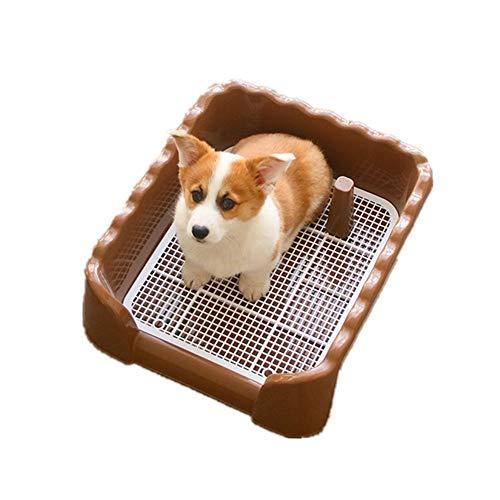 YAzNdom Kattentoilet, hondentoilet-pad-houder, mesh-training, draagbaar droog en floors, clean voor kleine medium, rassen, kattenbak, met deksel