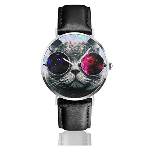 Tumblr CATLeather Reloj de Pulsera Casual clásico de Acero Inoxidable de Cuarzo para Negocios