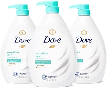 Dove Body Wash Hypoallergenic and Sulfate Free Body Wash Sensitive Skin Effectively Washes Away product image