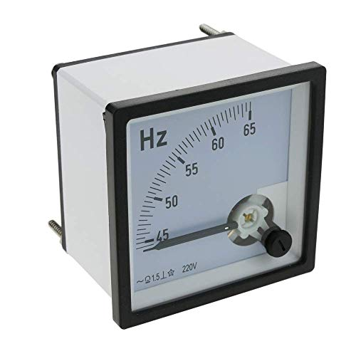 BeMatik - Analoges elektrisches quadratisches Plattenmeter 72x72mm 65Hz Frequenzmeter