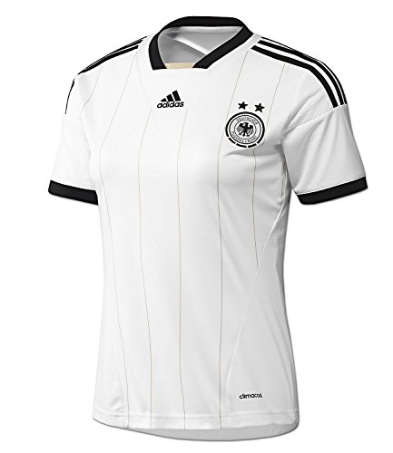 adidas Damen Fu0ball Trikot DFB Home Jersey Deutschland weiß-schwarz (M, weiß-schwarz)