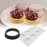 Waroomss - Moldes de silicona antiadherentes para tartas de cumpleaños, artesanales para chocolate, jabón, pasteles, magdalenas, etc.
