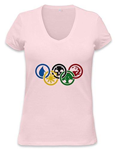 Magic The Gathering Olympics Womens V-neck T-shirt Large