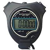 Schütt Stoppuhr Stoptec HC-4 / Stoppuhr mit großem Display/Digitale Stoppuhr mit Uhrmodus, Datum, Alarm, Stundensignal… (ohne Trillerpfeife)