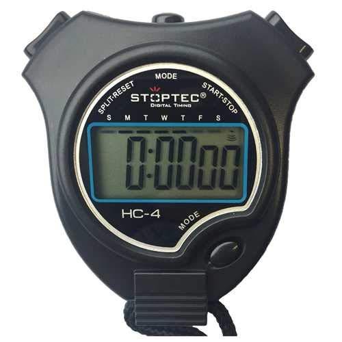 Schütt Stoppuhr Stoptec HC-4 - Digitale Stoppuhr mit großem Display | Hobby | Sport | Freizeit | spritzwasserfest | für Kinder geeignet - Auswahl: ohne Pfeife