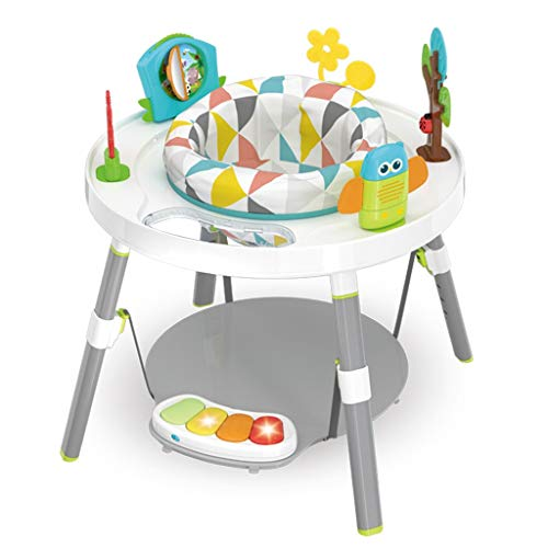 3-in-1 Multi-Function Interactive Children's Fun Activity Work Bench,Baby Joy Jump Rocking Chair with Toy Tray,Pedal Piano & Jumping Board for Toddlers and Infants (Multicolour)