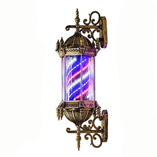 N / A 75cm / 30 peluquería de la Linterna peluquería Profesional, la Magneto de luz LED, Peluquero girando Rayas Blancas Azules roas de la Pared Resistente al Agua