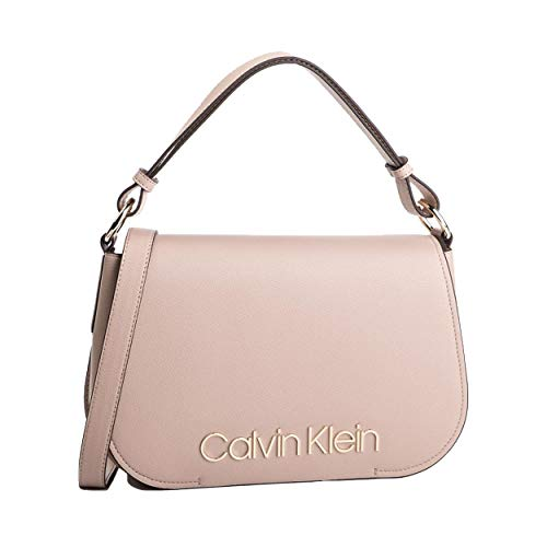 Calvin Klein - Dressed Up Satchel, Bolsos maletín Mujer, Rosa (Nude), 1x1x1 cm (W x H L)