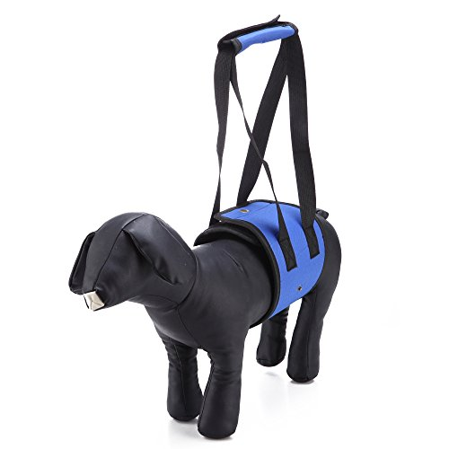 LXLP Dog Lift Harness Support Sling Helps Dogs with Weak Front or Rear Legs Stand Up, Walk, Get Into Cars, Climb Stairs. Best Alternative to Dog Wheelchair (Large, Blue)