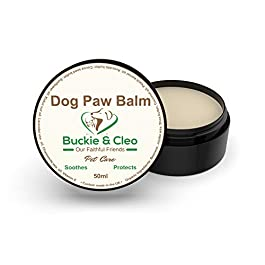 Buckie & Cleo Dog Paw Balm – Soothing And Moisturising Butter For Cracked, Rough Or Dry Paw Pads. Natural Protection For Dogs With Sensitive Or Sore Feet.