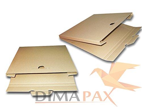 """Dimapax 200 scatole in cartone rigido per spedire dischi in vinile (capienza 3 dischi 12"""")"""