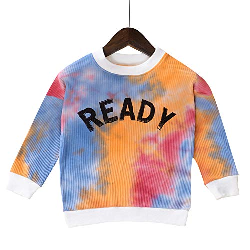 Hopscotch Boys And Girls Cotton And Spandex Full Sleeves Text Printed Sweatshirt In Multi Color For Ages 6-7 Years (Tnv-3139315)