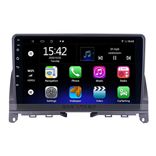 Android 2.5D Pantalla táctil Estéreo para automóvil Navegación por satélite Radio FM AM DVD Control del volante Reproductor de video Multimedia WIFI Bluetooth Navegación GPS -(Color:4 core WIFI 2+32G)