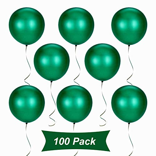 Gxhong 100 Pezzi Palloncini Verde, Palloncini in Lattice da 12 Pollici per Elio, Palloncini per Laurea Palloncini per Matrimonio per Decorazioni Natalizie Decorazioni per Feste (Verde)