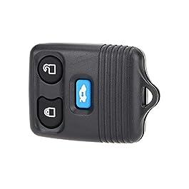 PKA Clé télécommande de rechange à 3 boutons 433 MHz pour Ford Transit MK6 2000-2006 Connect 2000-2007 Noir