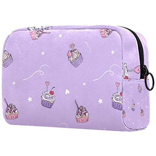 Trousse de toilette portable personnalisée pour pinceaux de maquillage, sac à main, organiseur de voyage, gâteau, crème glacée