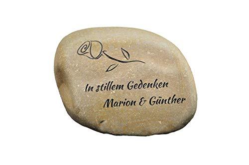 Stein für Urnengrab, Grabstein, Gedenktein personalisiert, Grabschmuck, Urnengedenkstein, gravierter Gedenkstein, gravierter Naturstein, Stein Gravur