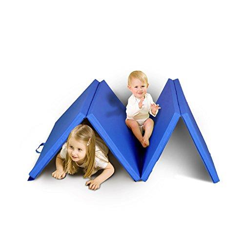 ZEYU SPORTS Kids Children Gymnastics Mat Home Gym Mat Exercise Training Mat Tumbling Mat (Rainbow)...