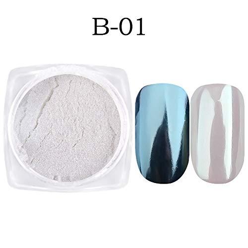 7 Boxen Pearl Shell Chamäleon Mirror Nail Powder Glitzer Set DIY Fine Nail Art Pigment Dust Maniküre Dekoration (01)