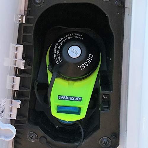 AdBlue Deckel Sicherung Tanksicherung für Tankverschluss Tankdeckel (Typ Citroen Jumper, AdBlueSafe Neon Gelb)